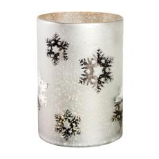 Winterland lykt med snøfnugg dekor