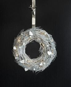 Julekrans med batteridrevet LED lys Ø37 cm