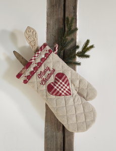 Merry Christmas ugnshandske