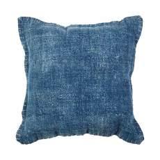 Agra Kudde 50x50 cm denim blå  enfärgad