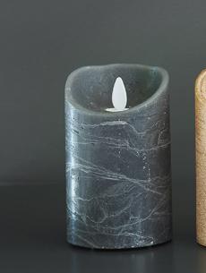 Flame LED pöytäkynttilä tummanharmaa 12 cm