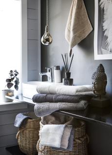 Luxury håndklesett koksgrått