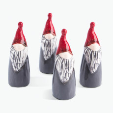 Santa röd 4 st