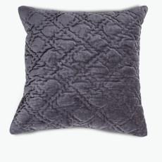 Velvet kudde antracitgrå 45x45 cm
