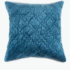 Velvet petroleumsblå m/dunpute 45x45 cm