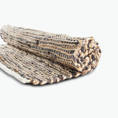 Nature gulvteppe brunt 75x180 cm