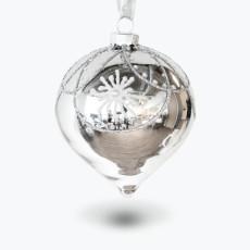 Julpynt glaskula med mönster 4 st