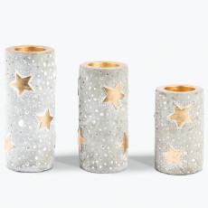 Golden Stars värmeljushållare 3 st