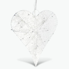 White Christmas hjärta