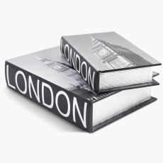 Book LONDON oppbevaringsboks sett à 2