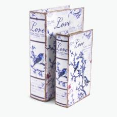 Book LOVE förvaringslåda 2 st