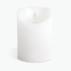 Flame LED kubbelys hvitt 10 cm