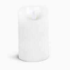 Flame LED kubbelys hvitt 12 cm