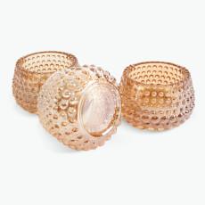 Drops värmeljushållare amber 3 st