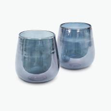 Midnight Blue värmeljushållare 2 st