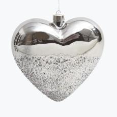 Dusk to Dawn hjärta med batteridrivet ljus 18 cm