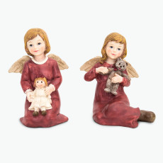Joyful engel rød sett à 2