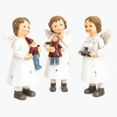 Joyful valkoiset enkelit 3 kpl/pkt