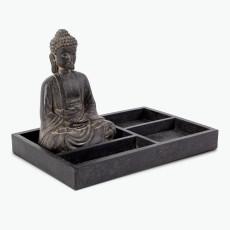Buddha veistos tarjottimella