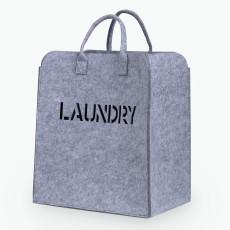 Laundry skittentøyskurv lys grå