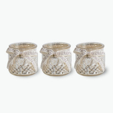 Silver Heart kynttilälyhdyt 3 kpl