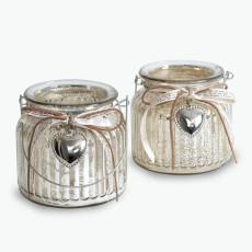 Silver Heart kynttilälyhty 2 kpl