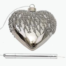 Charleston sydän LED - valolla 12 cm