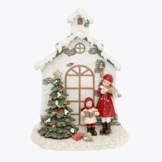 Christmas Carol figur m/LED lys