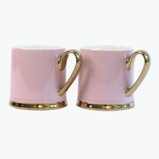 Pastel Pink muki 2 kpl