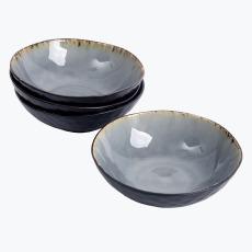 Grey Harmony syvä lautanen 4 kpl