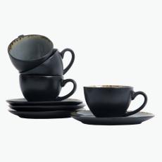 Grey Harmony kahvikuppi ja lautanen 4 kpl