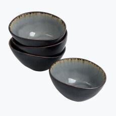 Grey Harmony bolle oval liten 4 stk