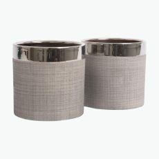 Camden potteskjuler sølv 12 cm 2 stk