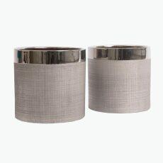 Camden potteskjuler sølv 15 cm 2 stk