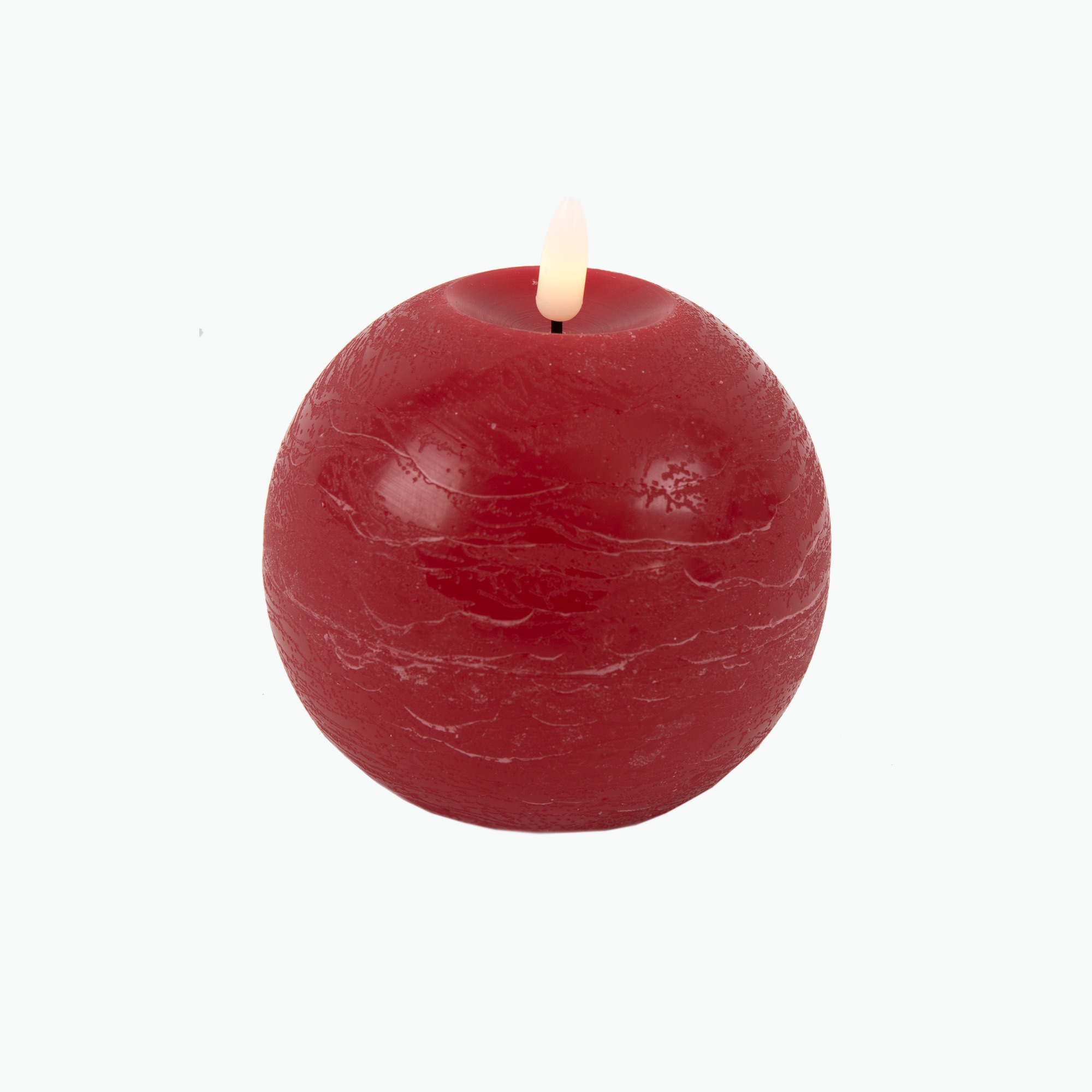 Ambience pallokynttilä punainen Ø: 10 cm