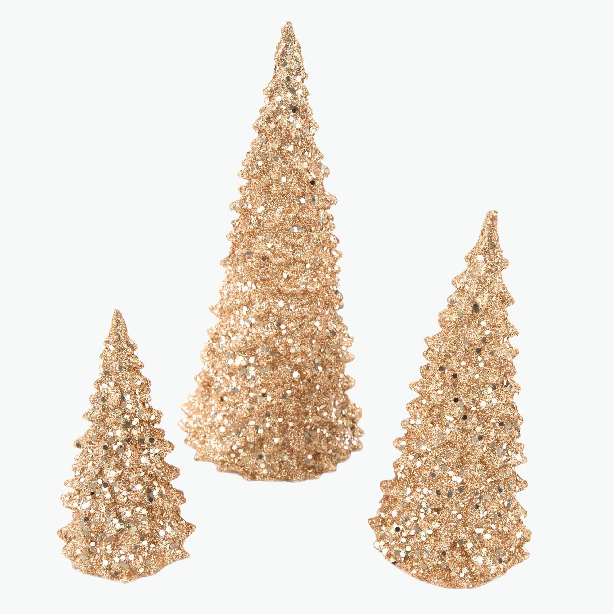 Golden Glitter koristepuusetti à 3
