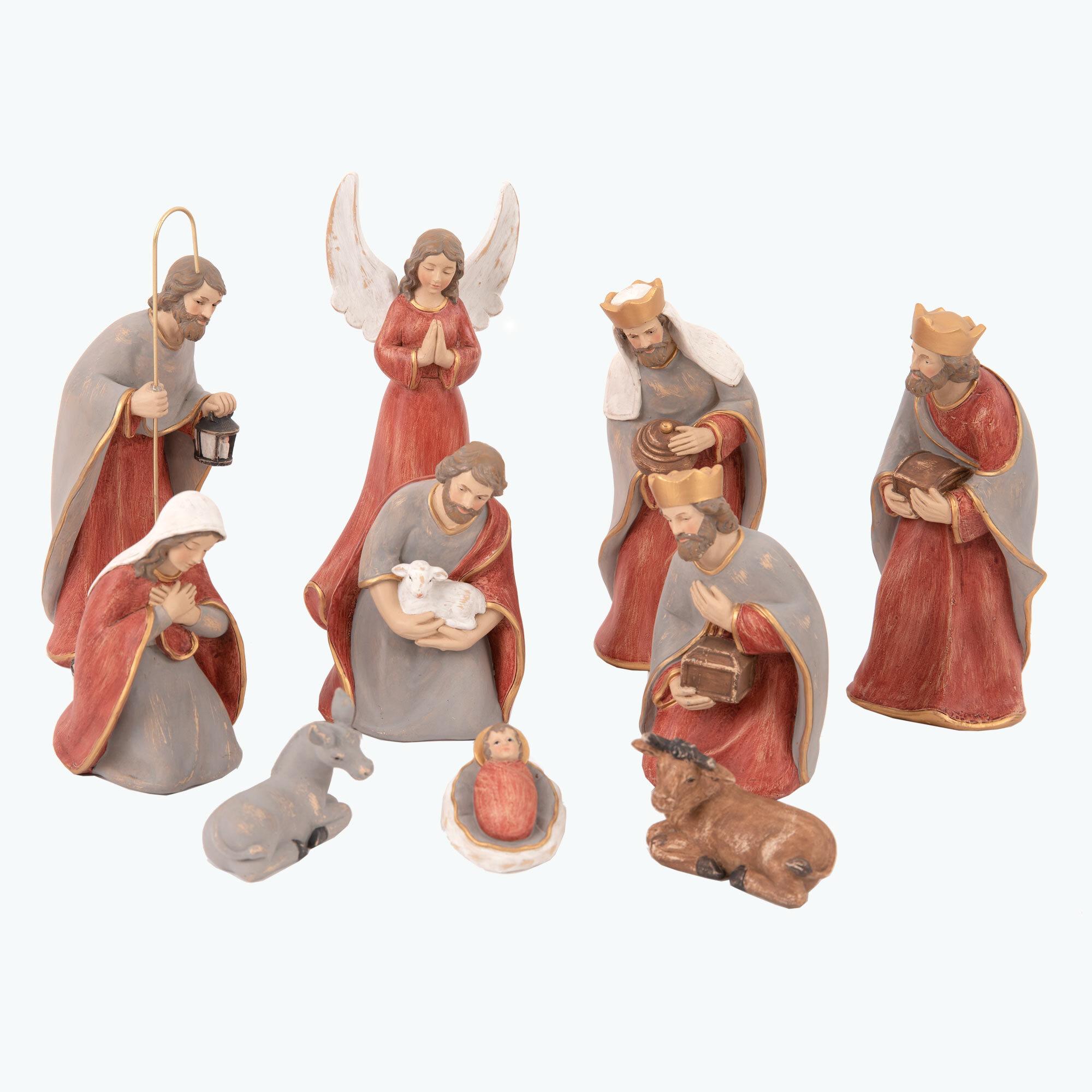 Bethlehem julkrubba röd/grå