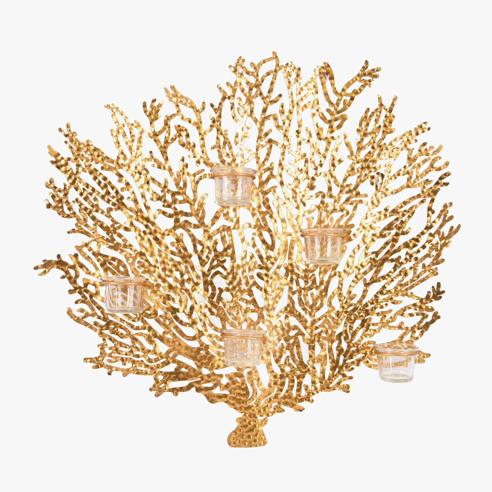 Corallo seinäkynttelikkö 5 kynttilälle