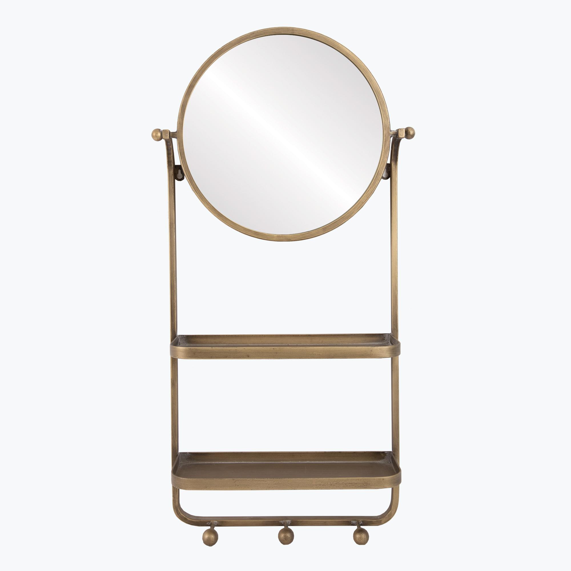 Belmond spegel m. hyllor och krokar