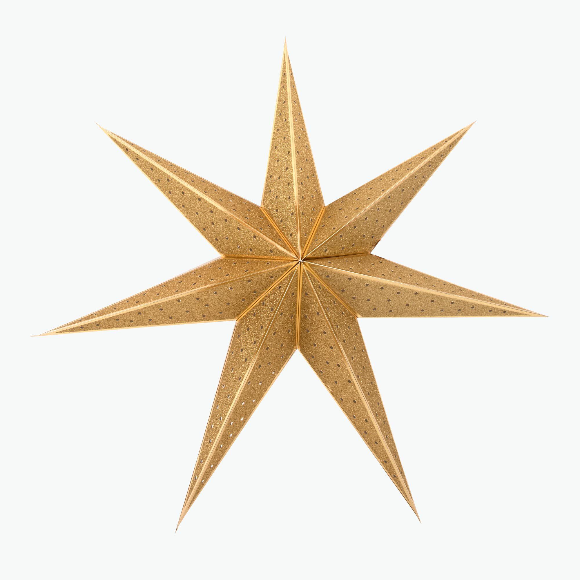 Stella Gold adventsstjärna 75 cm