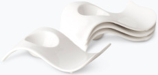 Hvit Lilje eggeglass 4 stk