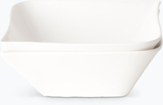 Vit Lilja skål, mellanstor 2 st