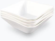 Hvit Lilje frokostskål 4 stk