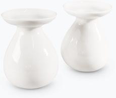 Hvit Lilje vase 2 stk