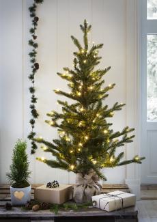 Juletre 120 cm grønn m/julepynt