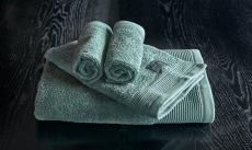 Luxury grönt handduksset