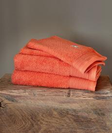 Luxury handduksset korallfärgad