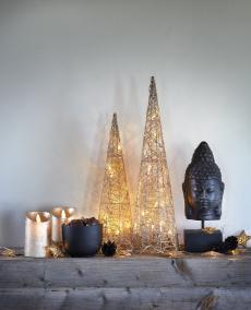 Sparkling Christmas kjegle sett à 2