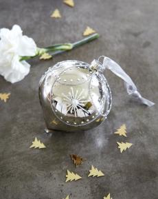 Julepynt glasskuppel 4 stk