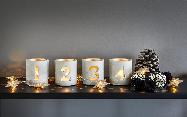 advent telysholder sett 4 perfect home. Black Bedroom Furniture Sets. Home Design Ideas